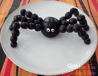 Halloween fruit spider