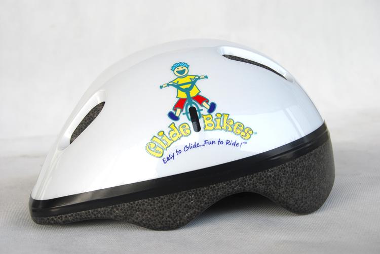 White Glide Bikes Helmet Side View