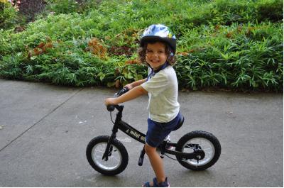 Riding the Balance Bike