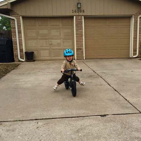 learning to balance bike