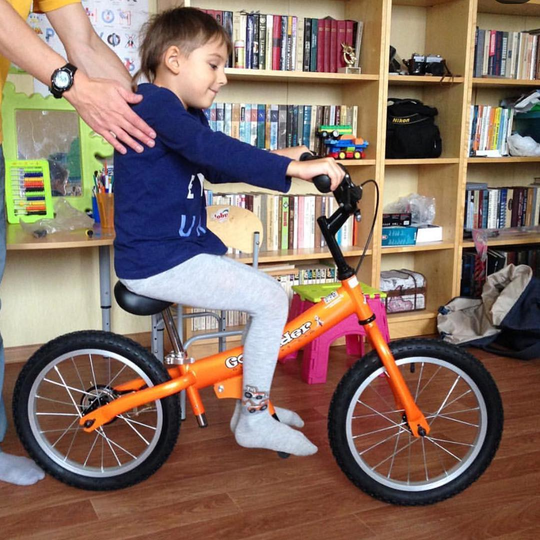 orange balance bike for kids 5-8
