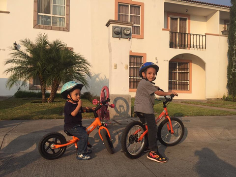 Brother on balance bikes