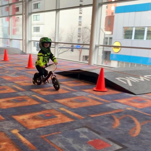 indoor racing balance bike