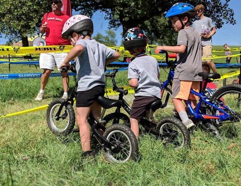racing the balance bikes