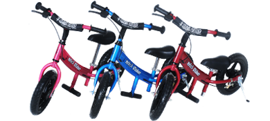 Mini Glide, Go Glider, in Red, Blue, Pink.