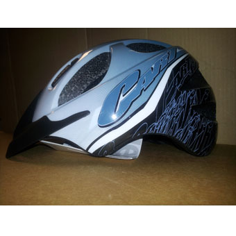 Steel Blue Uvex Helmet w/ Attached Light